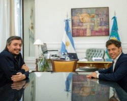 MÁXIMO KIRCHNER VISITÓ EN LA PLATA AL GOBERNADOR KICILLOF.