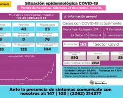 SON 291 CASOS INFECTADOS DE COVID EN NECOCHEA.